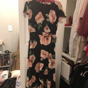 Francescas maxi dress with asymmetrical wrap